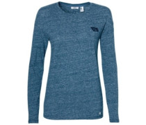 Scooped Hem T-Shirt LS dusty blue