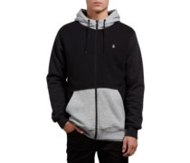 Sngl Stone Lined Zip Jacket black combo
