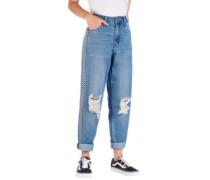 Eileen W/Sgl Side Stripe Jeans knee hole