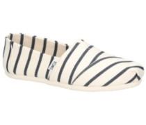 Alpargata Venice Slippers Women white navy riviera stripe