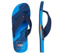 Concrete Stripe Sandals neon dark blue