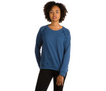 Cross Lace Sweater indigo