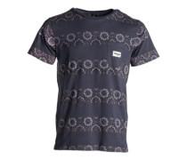Rattlesnake Blocking T-Shirt mood indigo