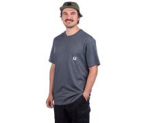 Basic Pocket Label T-Shirt charcoal heathe