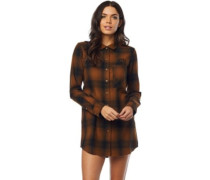 Moto X Long Flannel Shirt LS taupe