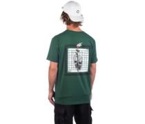 Rose Grid T-Shirt bottle green