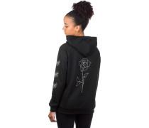 BT Rose Backprint Hoodie black