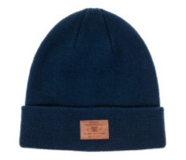 Label Beanie Youth insignia blue