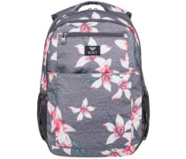 Here You Are Backpack charcoal heather flower f