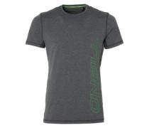 Logo Hybrid T-Shirt dark grey melee