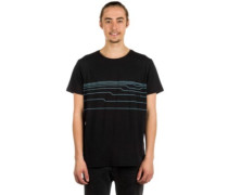 Distort Lines T-Shirt black