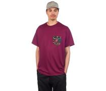 Crazy Pocket T-Shirt burgundy