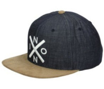 Exchange Snapback Cap black denim