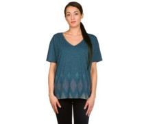 Geo V-Neck T-Shirt indigo heather