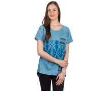 Graphic Raglan T-Shirt niagara blue