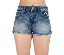Hi Way Patched Shorts vintage indigo