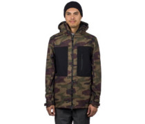 Smarty Phase Softshell Jacket dark camo colorblock