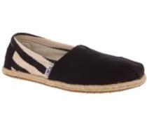University Slippers Women black stripe