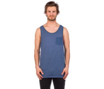 50-Pocket Tank Top ensign blue light heather