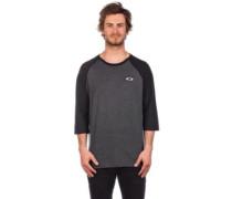 50-SLV Raglan T-Shirt LS blackout light heather