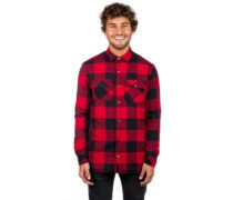 Rae Buff Sherpa Shirt LS red black
