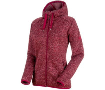 Chamuera Ml Hooded Fleece Jacket dark beet