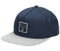 Stacked Snapback Cap navy grey heath