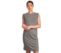 Draped Knot Jersey Dress grey