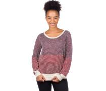 2 Tone Biquet Knit Pullover maroon mel