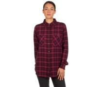 Modern Check Shirt LS red aop
