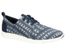 Del Rey Sneakers Women navy batik stripe
