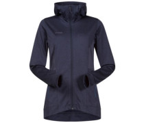 Lom Fleece Hooded Outdoor Jacket nightblue