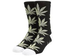 Plantlife Melange Leaves Socks black