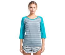 Phoenix 3/4 Raglan Box Small T-Shirt LS aqua