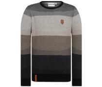 Analverkehr Nicht Schwer Pullover black grey melange stripe