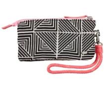 Jacquard Zip Wallet black aop