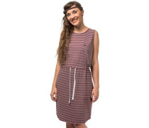 Anita Dress burgundy stripes