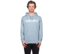 College Hoodie dusty blue heather white