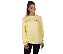 Glyphline Crew Sweater light yellow