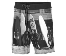 Mid Freak Photo Boardshorts black aop