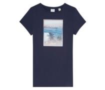 Palm Photo Print T-Shirt ink blue
