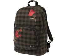 Schoolyard Cnvs Backpack dark chocolate