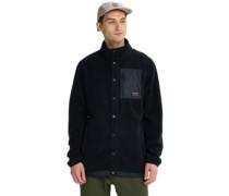 Hearth Snap-Up Fleece Jacket true black