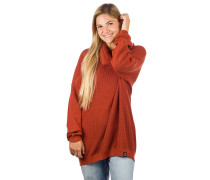 Mock Turtle Knit Pullover earth red