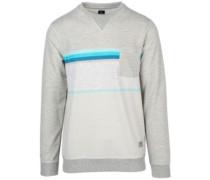 Yarn Dyed Stripe Crew Sweater cement marle