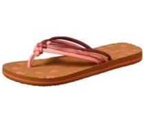3 Strap Ditsy Sandals Women hot coral