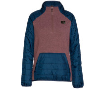Emma Tech Fleece Pullover mauve