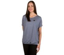 Die Gedudelte V T-Shirt bluegrey melange