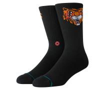 Cavolo Tiger Crew Socks black