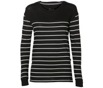 Ess Stripe Relaxed Long Sleeve T-Shirt white